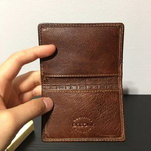 NEW Boconi Hendrix Club Card Case wallet brown RFID protected